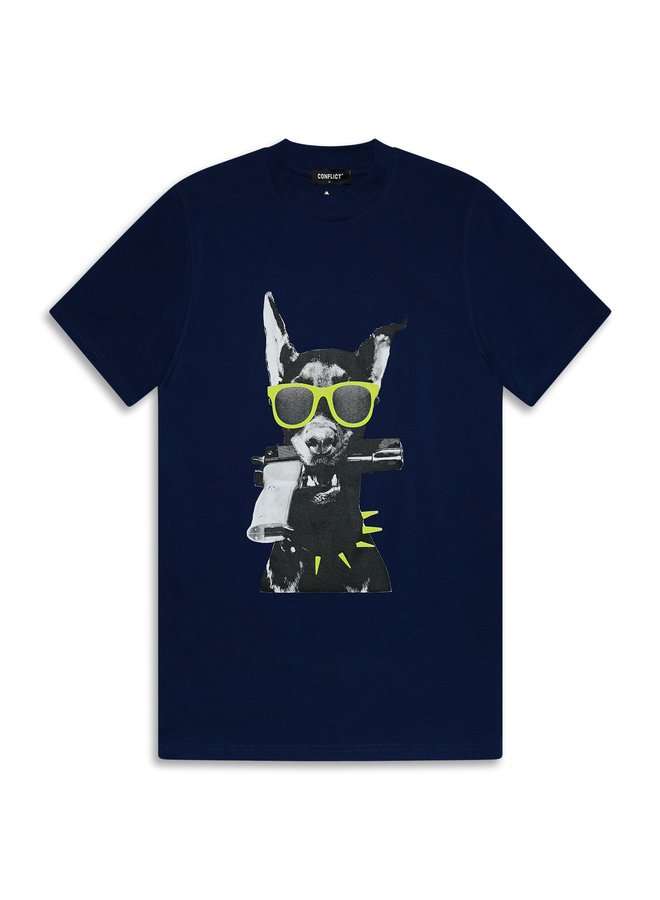 Conflict T-Shirt Dobermann Indigo