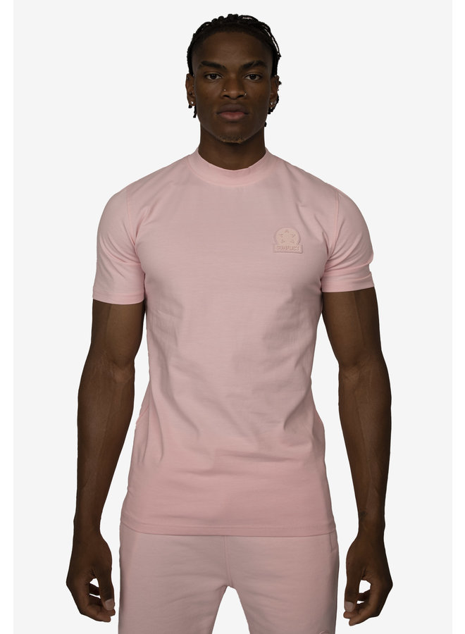 Conflict T-Shirt + Shorts Twinset Logo Pink