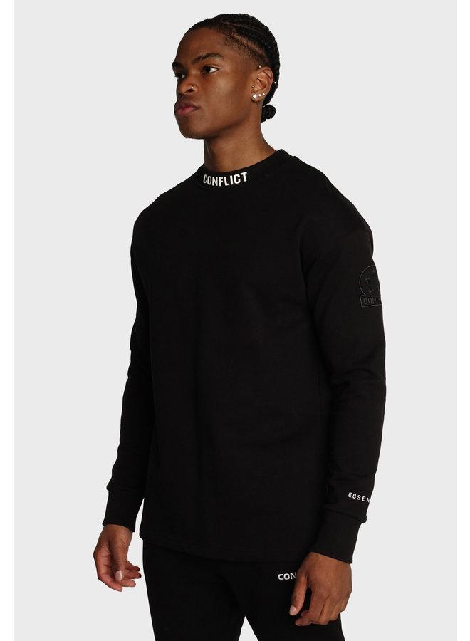 Conflict Sweater Logo Essentials Schwarz