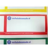 Stickervel etiketten