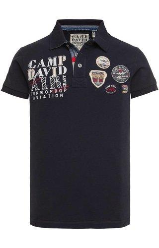 Camp David Camp David ® Polo Piqué, met Aviation-Artwork