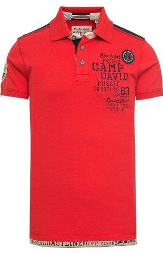 Camp David Camp David ® Poloshirt Monterey, Rood