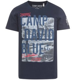 Camp David Camp David ® T-Shirt met fotoprint en logo