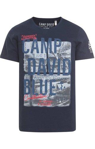 Camp David Camp David ® T-Shirt met fotoprint en logo