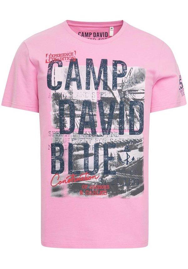 ® T-Shirt met fotoprint en logo