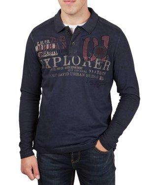 Camp David Camp David ® Poloshirt Lost Spaces L/S