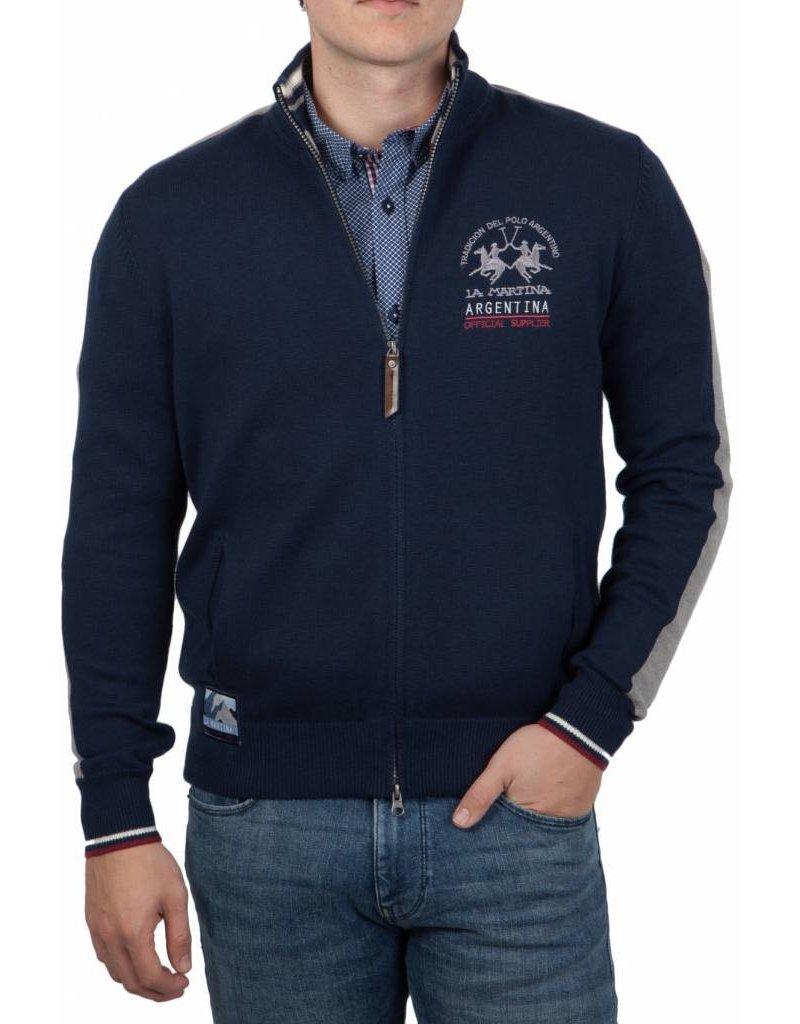 La Martina ® Lamswol Vest Argentina, Donkerblauw