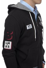 La Martina ® Sweatshirt Hoodie NYC, Zwart