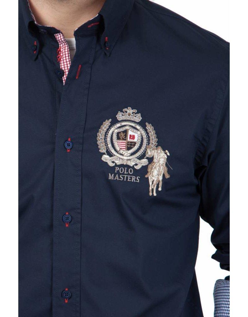 van Santen & van Santen ® Overhemd Polomasters, Donkerblauw