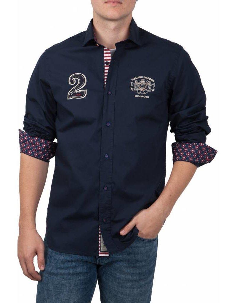 van Santen & van Santen ® Overhemd Buenos Aires, Donkerblauw