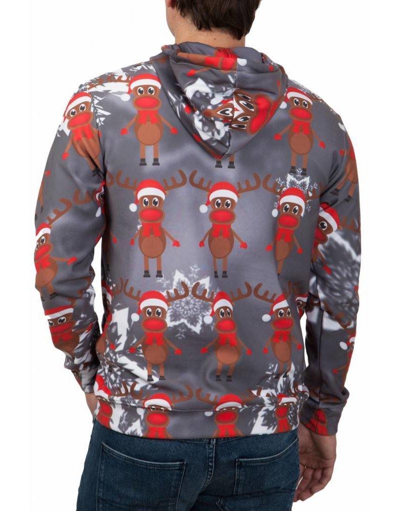 Rudy Land Kersttrui Hoodie Multi Grey