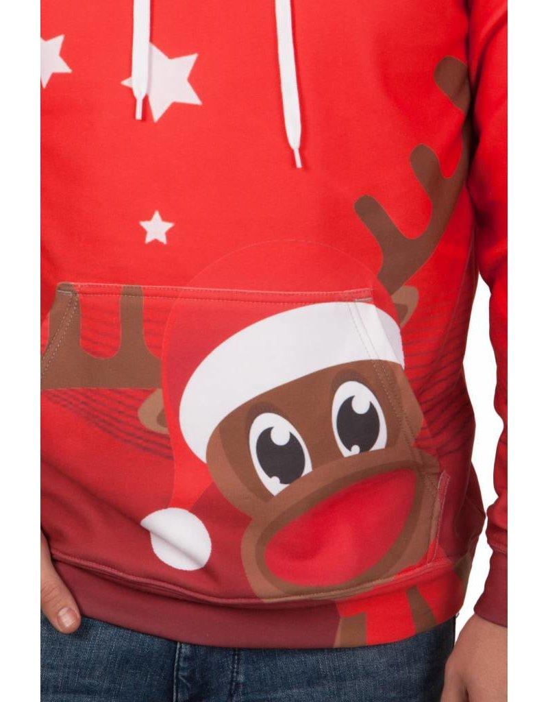 Rudy Land Kersttrui Hoodie X-Mas Red
