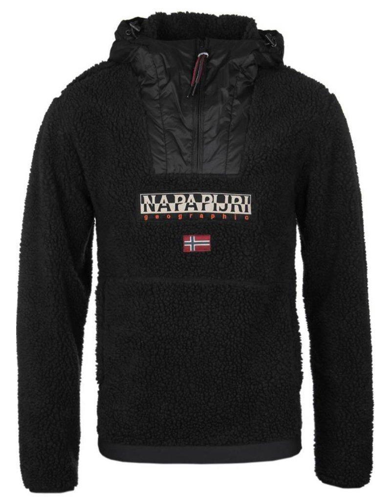 Napapijri ® Hoodie Pullover, Zwart Unisex
