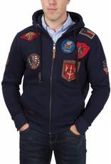 Top Gun ® Hoodie met patches, donkerblauw