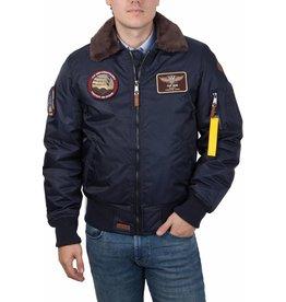 Top Gun Top Gun B-15 nylon Bomberjack met vervangbare patches