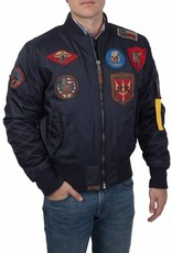 Top Gun Ma-1 nylon Bomberjack met patches