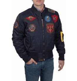Top Gun Top Gun Ma-1 nylon Bomberjack met patches