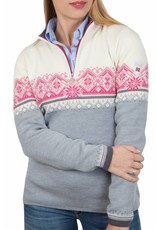 Dale of Norway ® St.Moritz Dames Pullover, grijs/wit