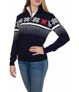 Dale of Norway Dale of Norway ® Olympic Passion Dames Pullover, Donkerblauw