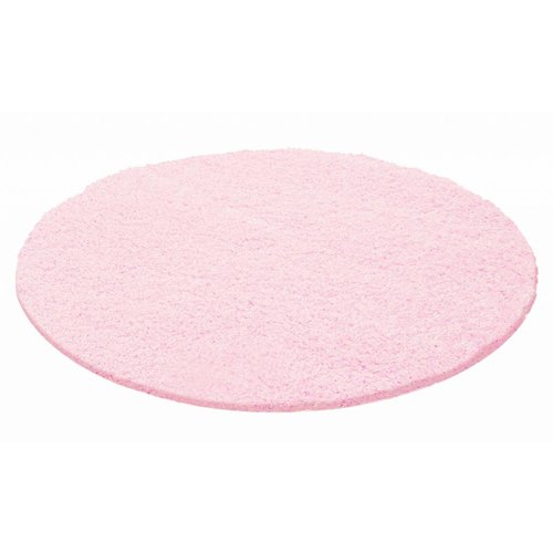 CANDY SHAGGY ROND ROZE