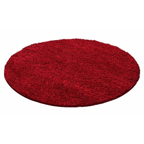 CANDY SHAGGY ROND ROOD