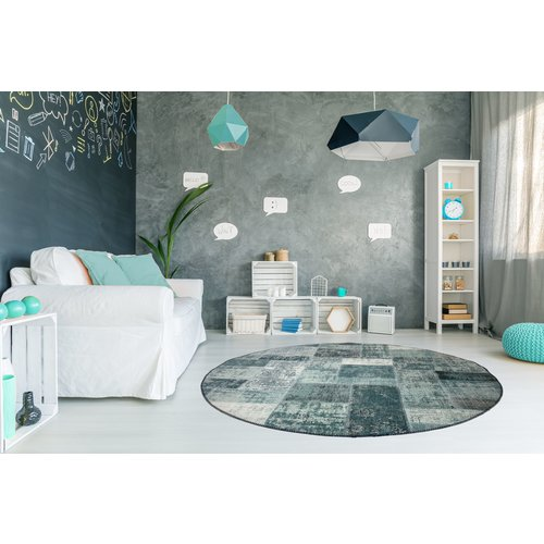 BURANO PATCHWORK ROND MINT