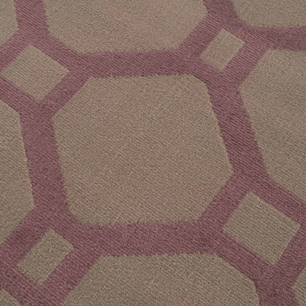 FLORENCE MODERN BRUIN / PAARS VLOERKLEED BAROK DESIGN
