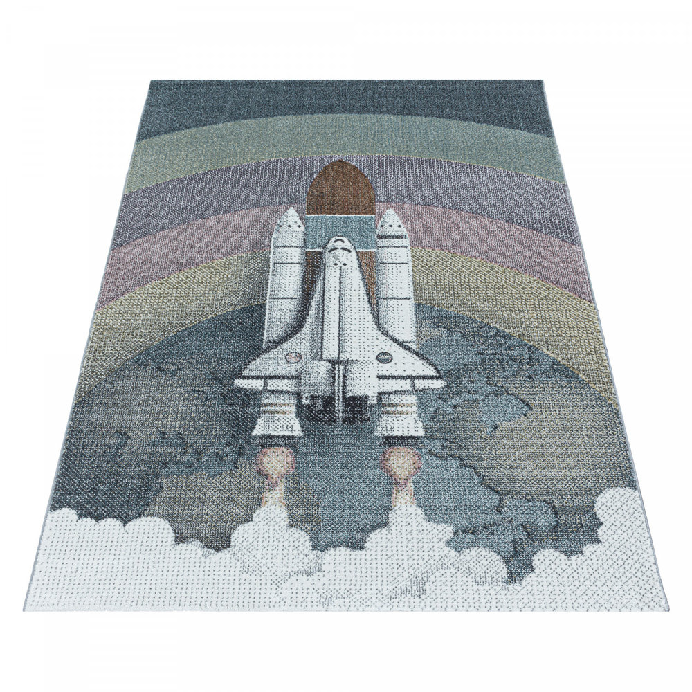 KIDS KINDERKAMER RUIMTESCHIP VLOERKLEED SPACE X