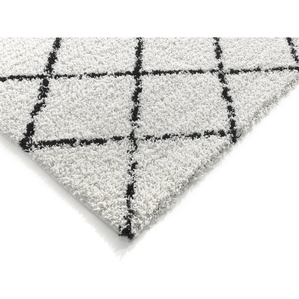 CANDY DIAMOND HOOGPOLIG CRÈME / ZWART VLOERKLEED GERUIT