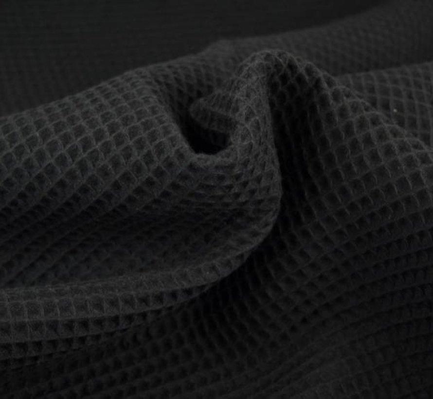 Zwart - wafeldoek klein