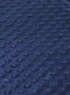 Decostoffen Donkerblauw - minky fleece