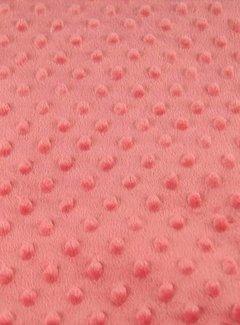 Decostoffen Abrikozen - minky fleece