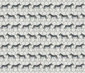 Decostoffen Zebra linnenlook