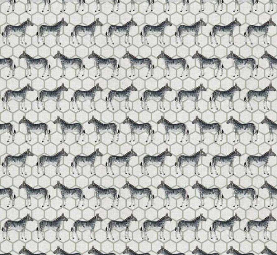 Linnenlook stof met zebra's