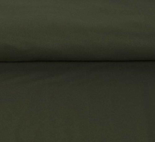 Decostoffen Legergroen - canvas katoen