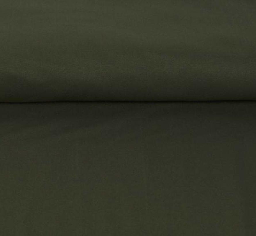 Legergroen - canvas katoen