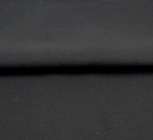 Decostoffen Zwart - canvas katoen