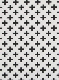 Decostoffen Kruisjes - ottoman print