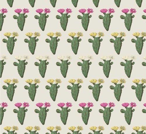 Decostoffen Cactus met planten jacquard meubelstof