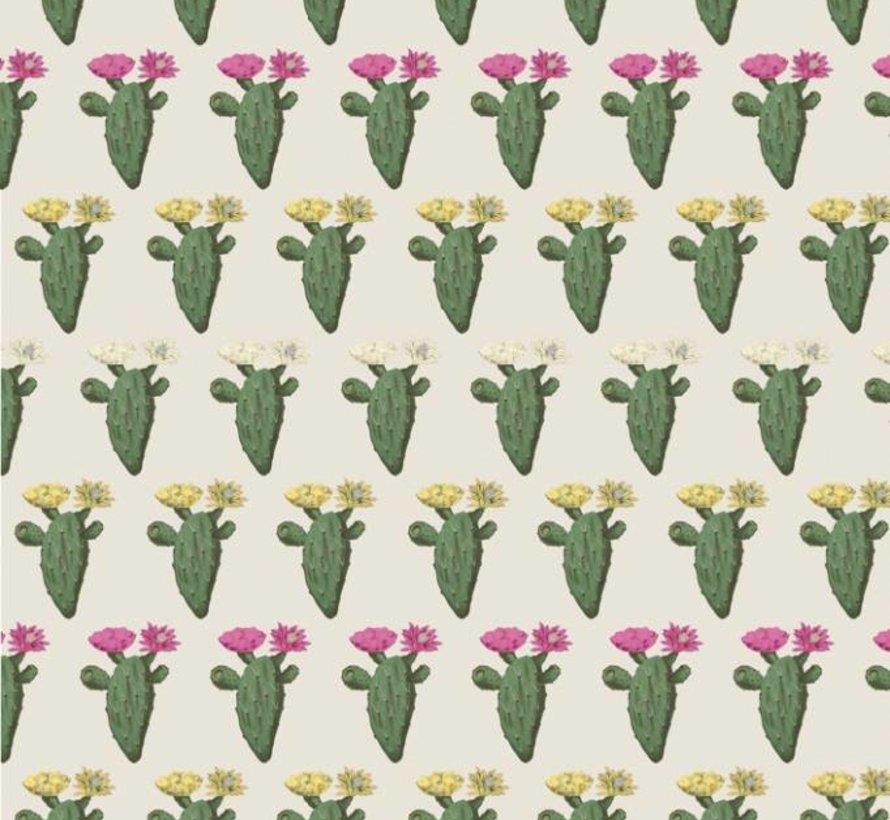 Cactus met planten jacquard meubelstof