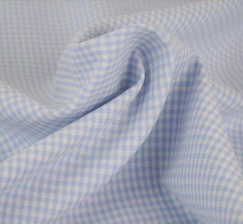 Decostoffen Licht blauwe ruit 3mm x 3mm