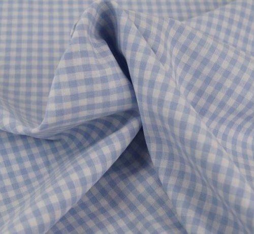Decostoffen Licht blauwe ruit 5 mm x 5 mm