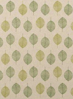 Decostoffen Groene bladeren linnenlook