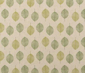 Decostoffen Groene bladeren 01 linnenlook
