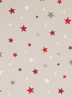 Rood witte sterren linnenlook