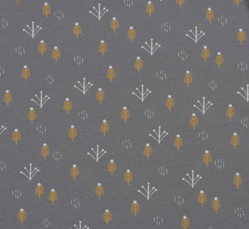 Decostoffen Arrows grijs - french terry