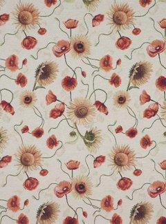 Tulpen en zonnebloem - gobelin
