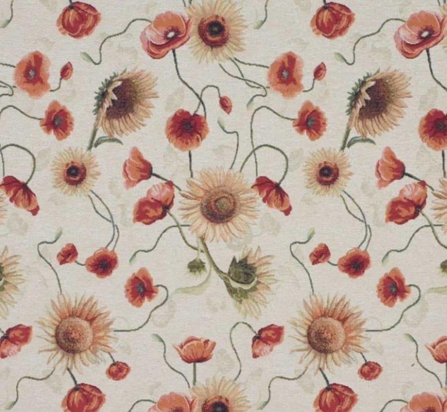 Tulpen en zonnebloemen - gobelin