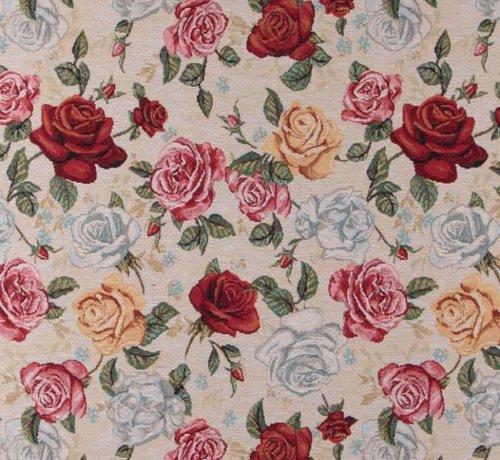 Decostoffen Gekleurde rozen - gobelin