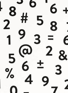 Decostoffen Cijfers & tekens - ottoman print